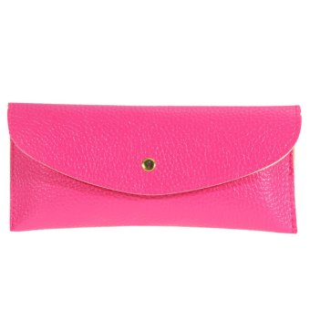 Korean Wallet Card Package Clutch Purse Faux Leather Envelope Candy(02) (Intl)
