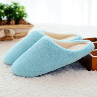 New Women Men Antiskid Indoor Home Floor Slipper Winter Warm Plush Soft Shoes - intl