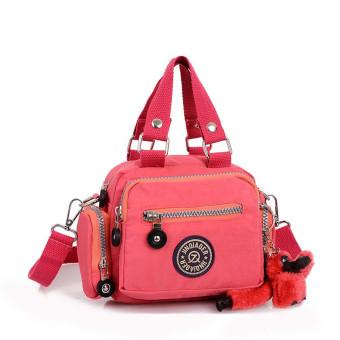 Waterproof Nylon Handbag Shoulder Diagonal Bag Messenger Watermelon Red (Intl)