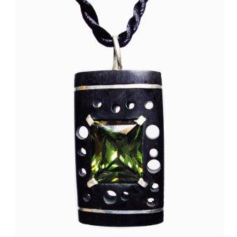 Dây chuyền CoCo Design gỗ Mun sừng kết hợp đá topaz bạc