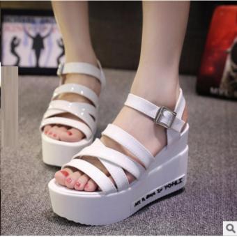 Giày sandal xuồng 4 dây đế chữ S139 (Trắng)
