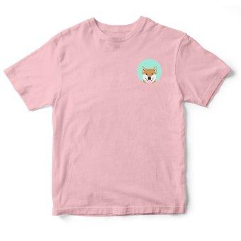 Áo Thun Nữ logo Shiba Inu Pet lovers (Hồng)