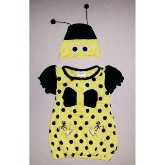 Đầm thun con ong bé gái sơ sinh 0 đến 2 tuổi TRI LAN DBG091 ( Vàng )