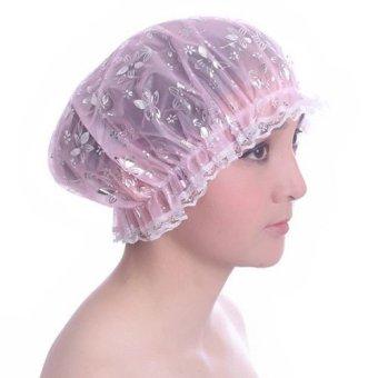 Mũ chùm đầu có chun co dãn khi tắm LD025 - Họa tiết hoa văn