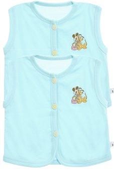 Bộ 2 áo khỉ thêu trẻ em Nanio A0004-2Xn (Xanh Nhạt)