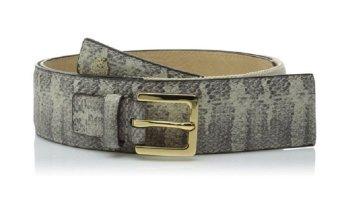 Nịt (thắt lưng) nữ họa tiết da rắn Vince Camuto Women's 1 3/4-Inch Printed Belt with Logo Crest (Mỹ)