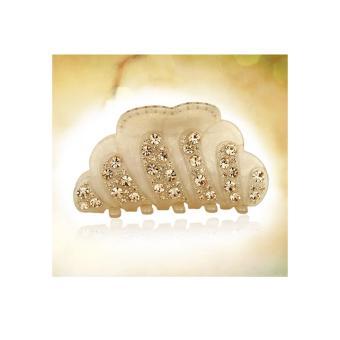 Kẹp Tóc Bản Cứng Acrylic Mica đính đá Swarovski