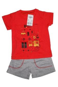 Bộ quần áo Hình xe (Đỏ)