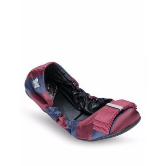 Giày Búp Bê Butterfly Twists Sloan (Bt06004-072) Xanh Sọc Đỏ
