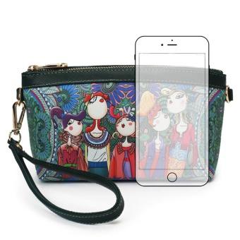 Women Fashion Handbag Folk-Custom Print Pattern Shoulder Bag Tote Ladies Purse - intl