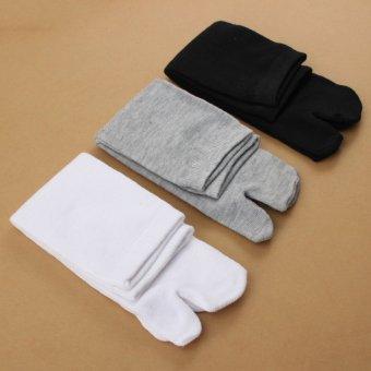 3 Pairs Unisex Japanese Kimono Flip Flop Sandal Split Toe Tabi Ninja Geta Socks - intl