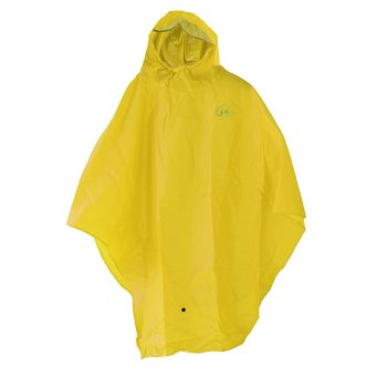 Bike Waterproof Raincoat Poncho Hooded Cover - Yellow - intl