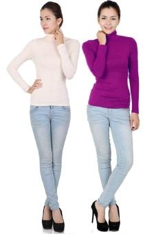 Bộ 2 áo nữ giữ nhiệt cổ lọ tay dài SoYoung 2WM TOP 014 NU HP