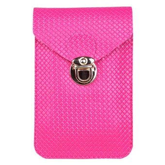 Moonar Women's Cross-body Shoulder Bags Mini Phone Bag Purse (Rose) - Intl