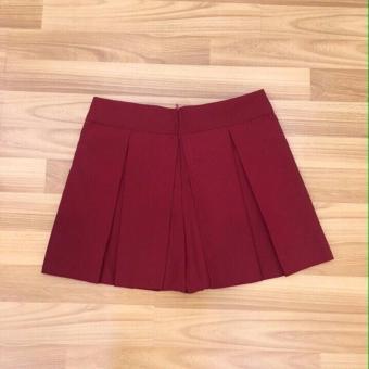 Chân váy xếp ly mini đỏ
