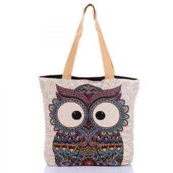Túi xách thời trang thổ cẩm họa tiết chim cú Hoian Gifts HA-2D