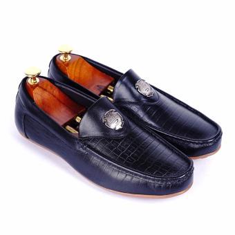 Giày lười nam da thật cao cấp Da Giày Việt Nam - VNLLT76-11VCT78D (Đen)