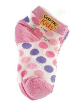 Bộ 3 đôi tất (vớ) bé gái Country Kids Girls Juicy Lucy Ankle Socks (Mỹ)