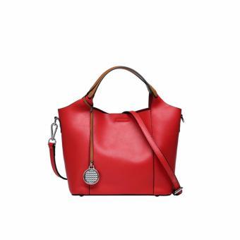 Túi xách nữ da bò phong cách Âu Mỹ QSL070 (Đỏ) - 3659411