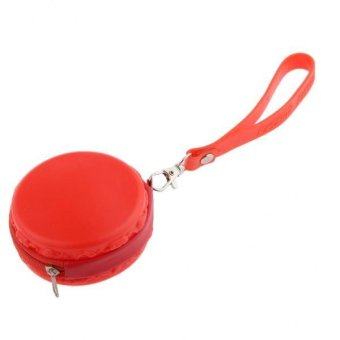 BolehDeals Circle Zipped Coin Purse/Wallet Mini Cosmetic Bag - Candy Style Red - intl