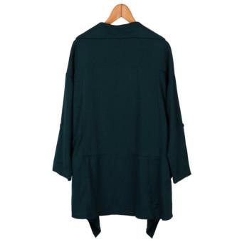 ZANZEA Women Long Windbreaker Parka Jacket Collar Cardigan Slim Coat - Intl