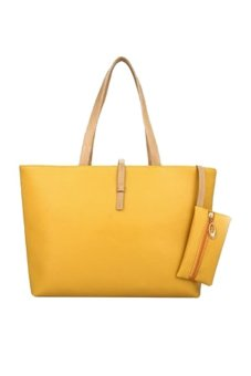 Fancyqube New Korean Female Bag Simple Shoulder With Purse Bag Fashion Casual Shoulder Bag Drop Shipping Yellow - Intl