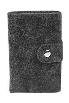 BlueLans Mini Card Organizer Case (Dark Grey) (Intl)