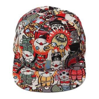 Unisex Vintage Zombie Snapback Hats Hip-Hop Dance Adjustable BBoy Baseball Cap Red NEW - intl
