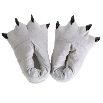 Unisex Plush Slippers Shoes White (Intl)