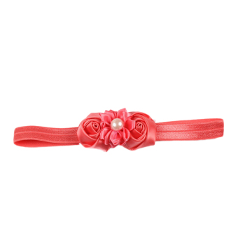Fancyqube Children's Hairband Hair Ornaments Rosebuds Plus Pearl 8