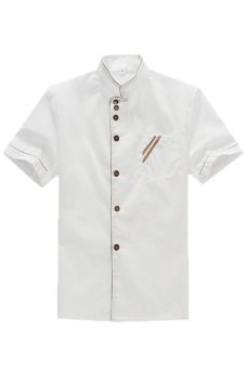 LALANG Chef Uniform Short Sleeve Coat (White)