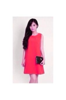 Đầm suong phong cách đơn giản (hồng)
