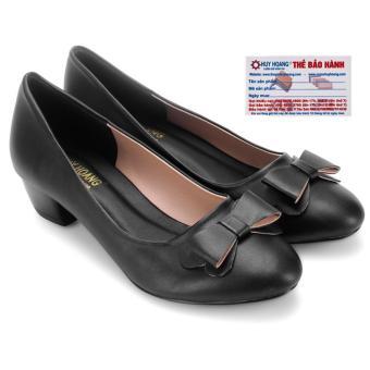 HL7022 - Giày búp bê đế 3cm Huy Hoàng màu đen