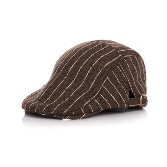 Kids Baby Boy Girls Stripe Beret Gatsby Cap Golf Driving Flat Cabbie Newsboy Hat NEW - intl