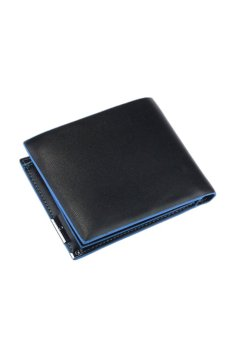 Leather Bifold Wallet (Blue/Black)