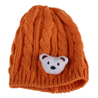 Cute Baby Infant Winter Knitted Cap Warm Crochet Hat 3-24 Months Yellow (Intl)