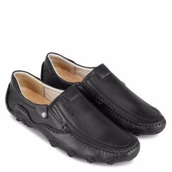 Giày Mọi Da Bò Cao Cấp SunPoLo SCN86D (Đen)