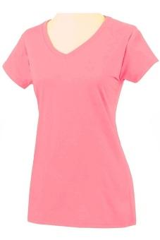 Áo phông thun cổ tim nữ SoYoung WM TOP 002 CO SSVN (Hồng)