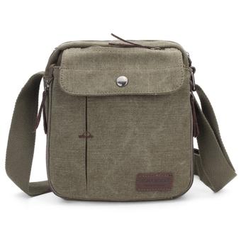 KAUKKO Men Women Canvas Shoulder Bag Outdoor Multifunctional Sports Packet Army Green - Intl