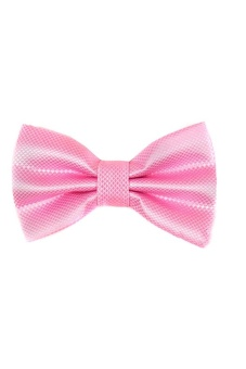 Blue lans Pure Polyester Wedding Party Bow Tie (Pink) - intl