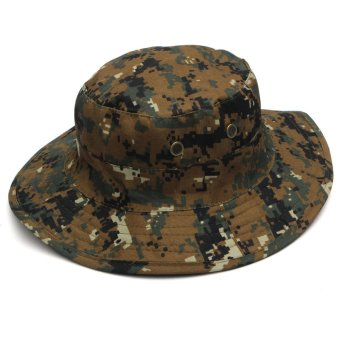 Unisex Military Camo Caps Bucket Camping Hiking Travel Sun Bob Fishing Hats Outdoor Dome Hats - Intl