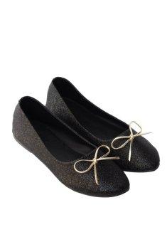 Giày búp bê kim tuyến đính nơ 92236