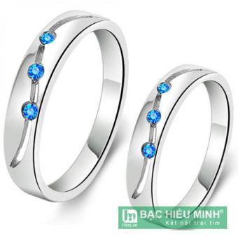 Nhẫn đôi Bạc Hiểu Minh nc145 sóng tình yêu