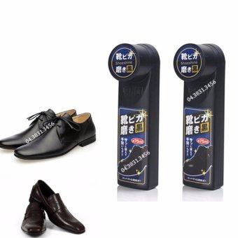 Bộ 2 dụng cụ đánh bóng giày đen Seiwa-Pro 75ml (Đen)