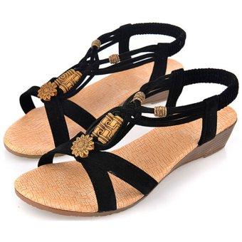 Moonar Wedge Shoes (Black/Brown)