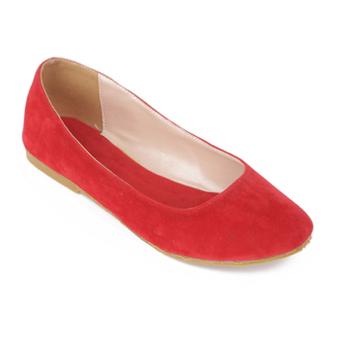 Giày búp bê trơn Dolly & Polly DL1005 (Đỏ)