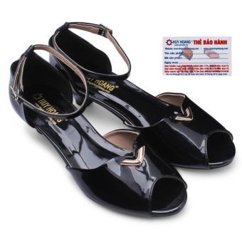 HL7006 - Giày đế thấp Huy Hoàng màu đen