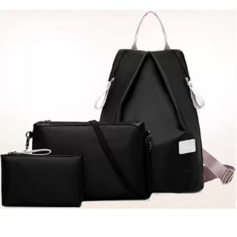 Bộ 3 balo túi ví thời trang nữ(Đen)