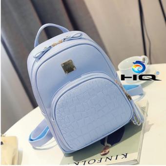 Ba lô da sinh viên phong cách Hàn Quốc HQ 81TU15 3(xanh)