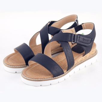 [The bany] Sandal đế 4,5cm quai xanh đen